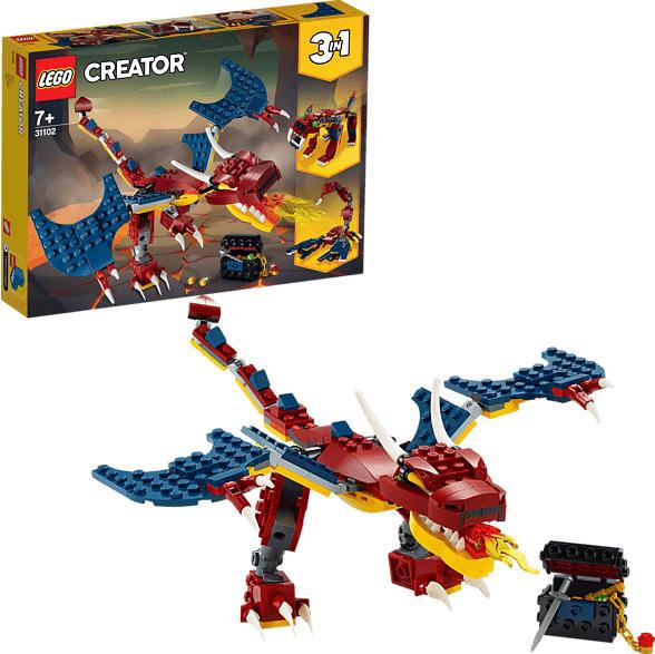 LEGO 31102 Feuerdrache Bausatz, Mehrfarbig