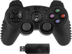 ISY Wireless PS3 Gamepad , Controller, Schwarz