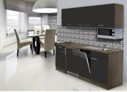 Einbauküche Küchenblock Möbelix Economy 195 cm Grau
