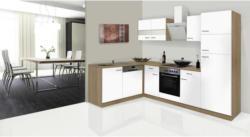 Einbauküche Eckküche Möbelix Economy L 280cm Eiche/Weiß