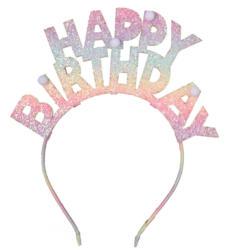 Haarreif mit Happy Birthday-Schriftzug