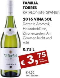 2016 Vina Sol