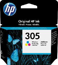 HP 305 Tri-color Original Ink Cartridge (3YM60AE) Tintenpatrone Tinte auf Farbstoffbasis Cyan, Magenta, Gelb