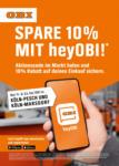 OBI SPARE 10% MIT heyOBI! - bis 17.10.2020