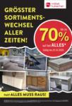 Möbel Hubacher Rausverkauf! - bis 25.10.2020