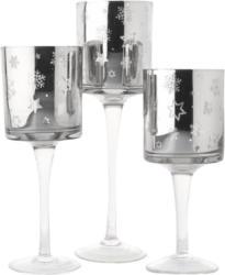 3 Windlichter aus Glas