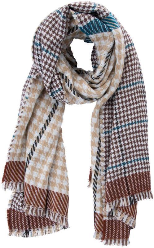 Damen Schal mit Hahnentrittmuster (Nur online)