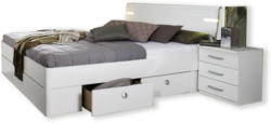Bett - Alpinweiß - LED-Beleuchtung - 180x200 cm