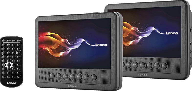 Kopfstützen DVD Player MES-212 mit zwei 7 Zoll Bildschirmen