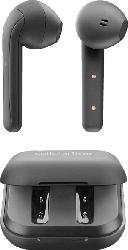 True Wireless Kopfhörer mit Lade- und Aufbewahrungsbox, schwarz