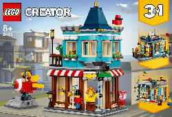LEGO 31105 Spielzeugladen im Stadthaus Spielset, Mehrfarbig