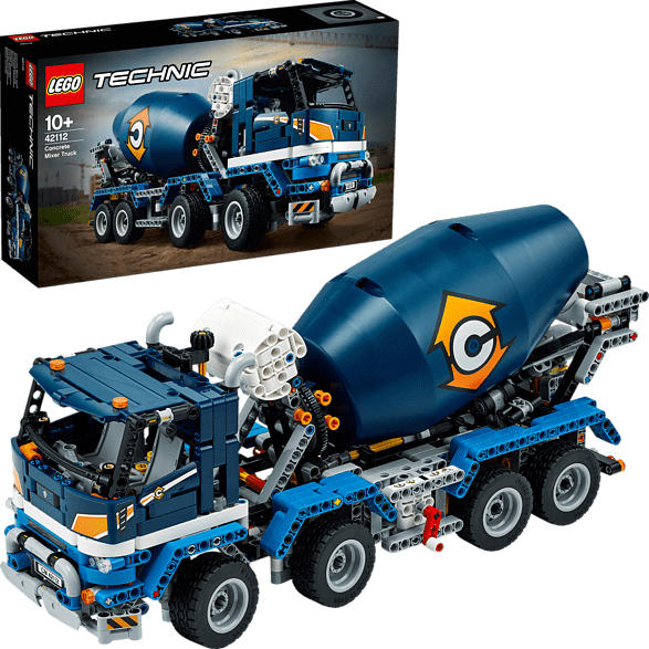 LEGO 42112 Betonmischer-LKW Bausatz, Mehrfarbig