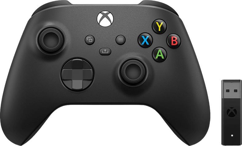 Xbox Series X Wireless Controller mit Drahtlosadapter für Windows, Schwarz (1VA-00002)