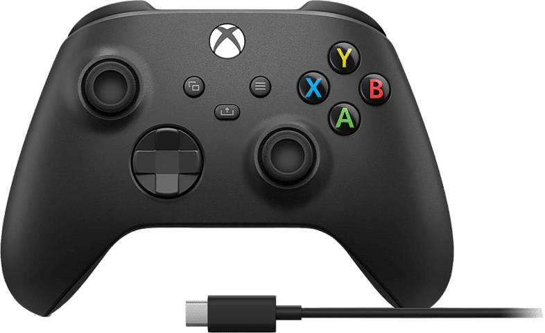 Xbox Series X Wireless Controller mit USB-C Kabel, Schwarz (1V8-00002)