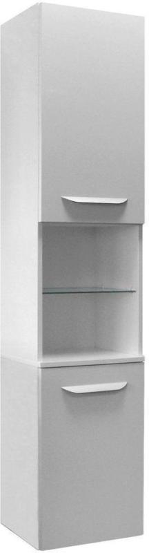 Hochschrank Lavella B: 35 cm Eiche/Weiß
