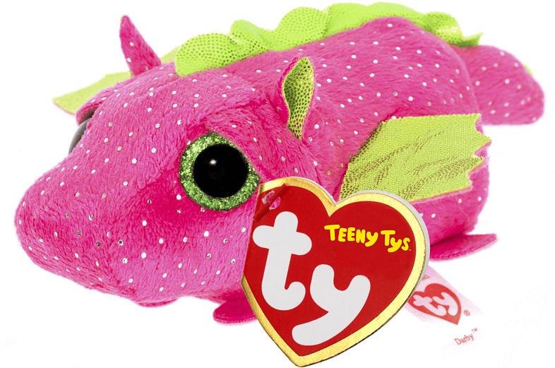 TY Darby Drache 10cm Plüschfigur, Pink