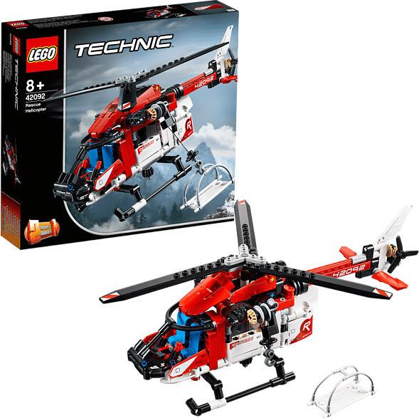 LEGO 42092 Rettungshubschrauber Bausatz, Mehrfarbig