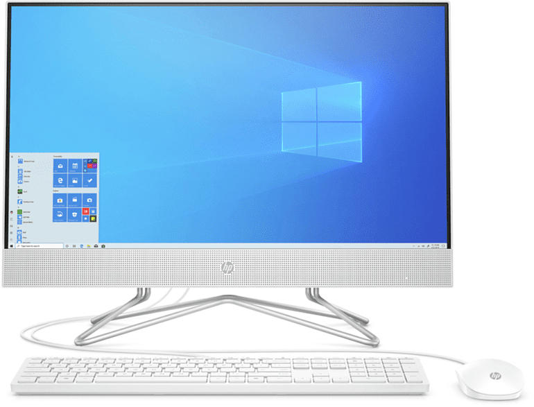 HP Pavilion 24-k0300ng, All-in-One PC mit 23.8 Zoll Display, Core™ i5  Prozessor, 8 GB RAM, 512 GB SSD, Intel® UHD Graphics, Weiß