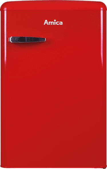 AMICA KS 15610 R Kühlschrank (133 kWh/Jahr, A++, 875 mm hoch, Rot)