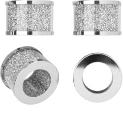 4 Serviettenringe in glitzernder Optik (Nur online)