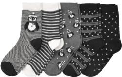 5 Paar Damen Socken mit Pinguin-Motiven (Nur online)