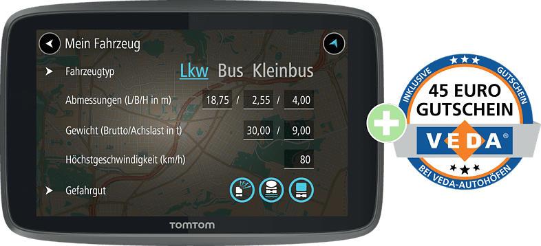 TOMTOM GO PROFESSIONAL 6250 + AUTOHOF GUTSCHEIN (MSH) LKW, Bus Europa