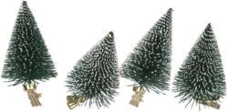 4 Tannenbaum-Clips mit Kunstschnee (Nur online)