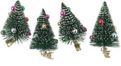 4 Tannenbaum-Clips mit bunten Kugeln (Nur online)