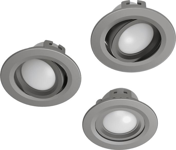 WiFi LED-Einbaustrahler, 3er Set, N