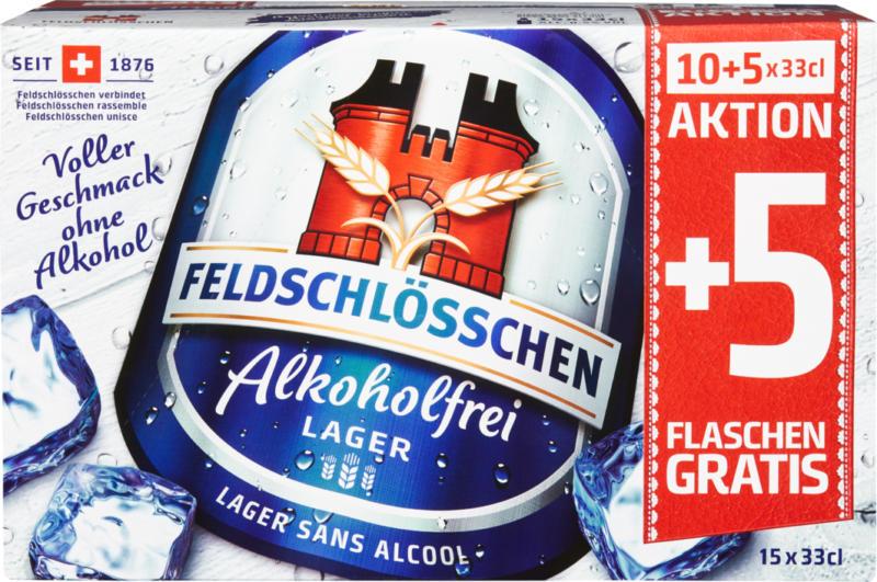 Bière Sans alcool Feldschlösschen , 15 x 33 cl
