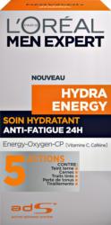 Soin hydratant anti-fatique 24h Hydra Energy L'Oréal, 50 ml