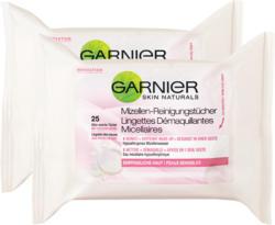 Salviettine detergenti Micellare Garnier, 2 x 25 pezzi