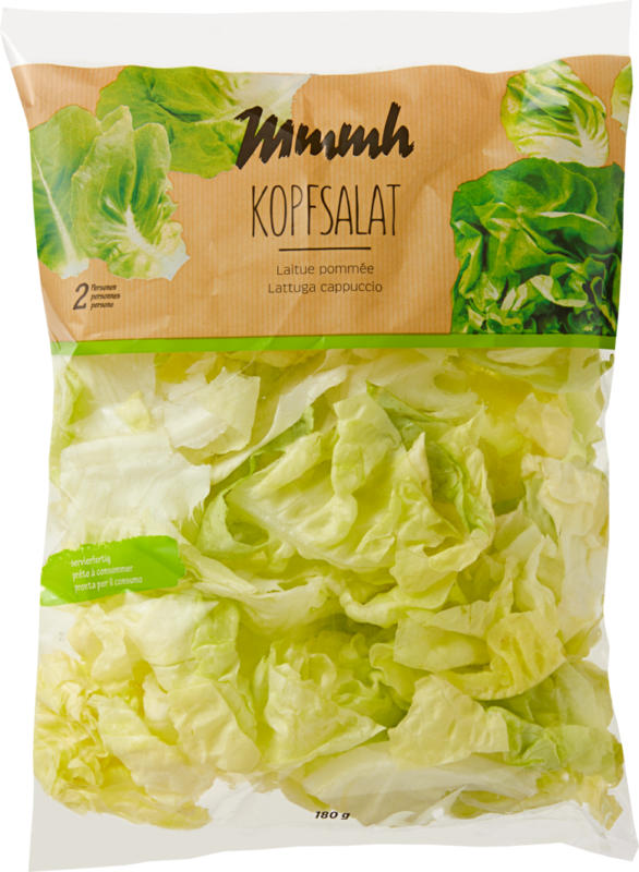 Mmmh Kopfsalat, Herkunft siehe Verpackung, 180 g