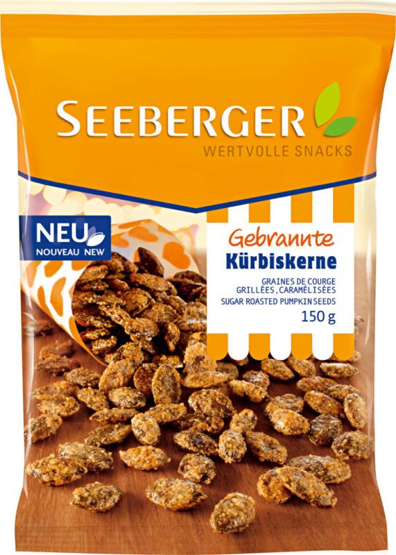 Snacks semi di zucca tostati e caramellati Seeberger, 150 g