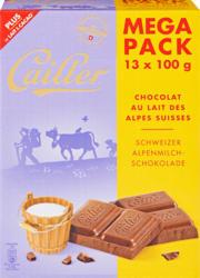 Cailler Tafelschokolade, Alpenmilch, 13 x 100 g