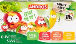 Andros Fruit Me Up, trinkbare Kompotte, assortiert, ohne Zuckerzusatz, 18 Stück