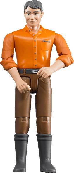 BRUDER Mann mit hellem Hauttyp/brauner Hose Spielzeugfigur, Mehrfarbig