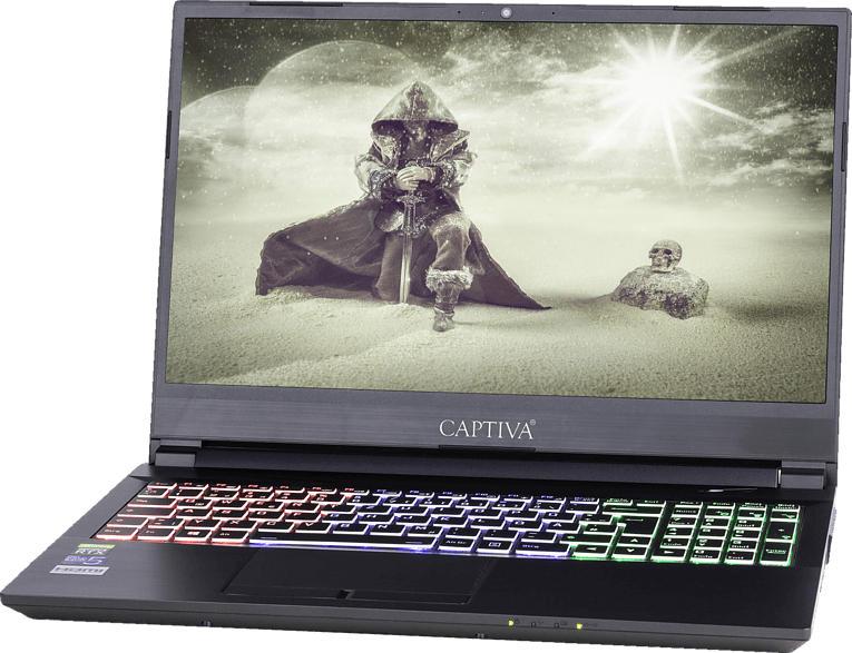 CAPTIVA I54-327, Gaming Notebook mit 15.6 Zoll Display, Core i5 Prozessor, 16 GB RAM, 120 GB SSD, 1 TB HDD, RTX 2060, Schwarz