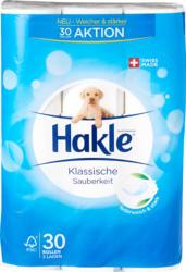 Papier hygiénique Propreté classique Blanc Hakle, 3 couches, 30 x 150 feuilles