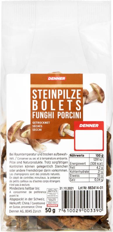 Bolets Denner, séchés, 50 g