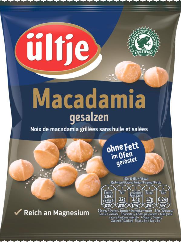 Macadamia Ültje, grillées sans huile et salées, 150 g