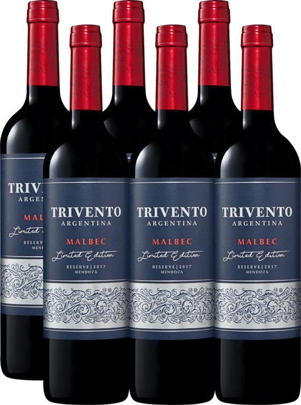 Trivento Malbec Reserve Limited Edition, 2019, Mendoza, Argentinien, 6 x 75 cl