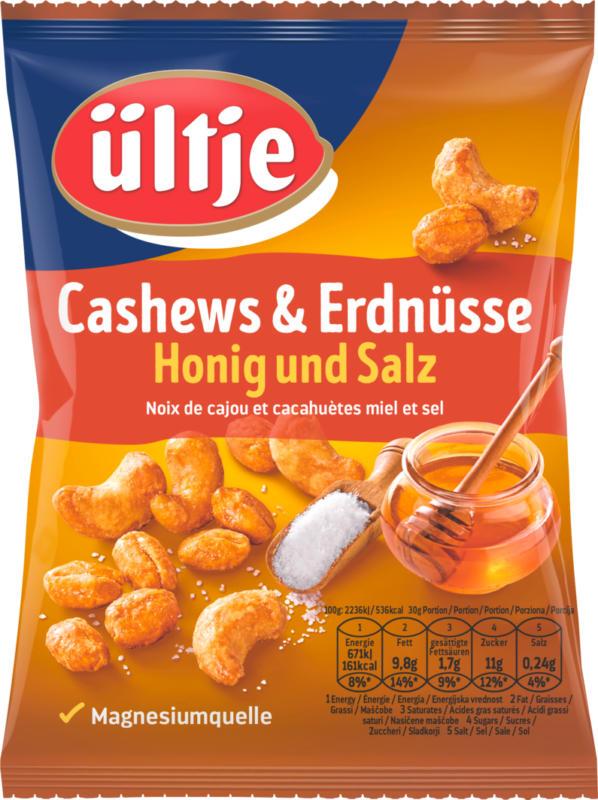 Noix de cajou et cacahuètes Ültje, Miel & Sel, 200 g
