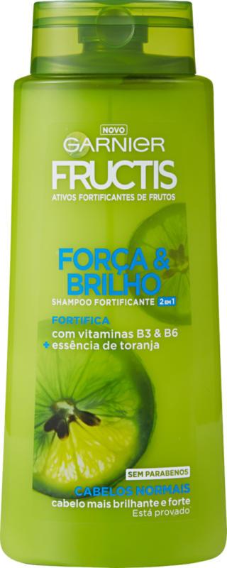 Garnier Fructis Shampoo, Kraft & Glanz 2 in 1, 700 ml