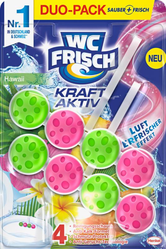 WC Frisch Kraft-Aktiv Duftspüler, Hawaii, 2 x 50 g