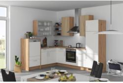 Einbauküche Eckküche Möbelix Fargo 220x285cm Weiß/Eiche