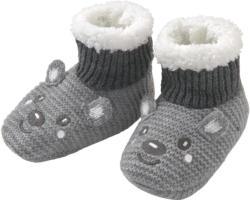 1 Paar Newborn Haussocken mit Teddyplüsch