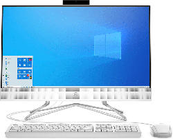 HP 24-df0303ng, All-in-One-PC mit 23.8 Zoll Display, Ryzen 3 Prozessor, 8 GB RAM, 512 GB SSD, AMD Radeon, Weiß