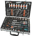 MediaMarkt MANNESMANN 98432 Steckschlüsselsatz 232-teilig Handwerkzeug, Grün/Schwarz