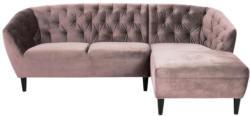 Chesterfield-Sofa in L-Form Ria Altrosa